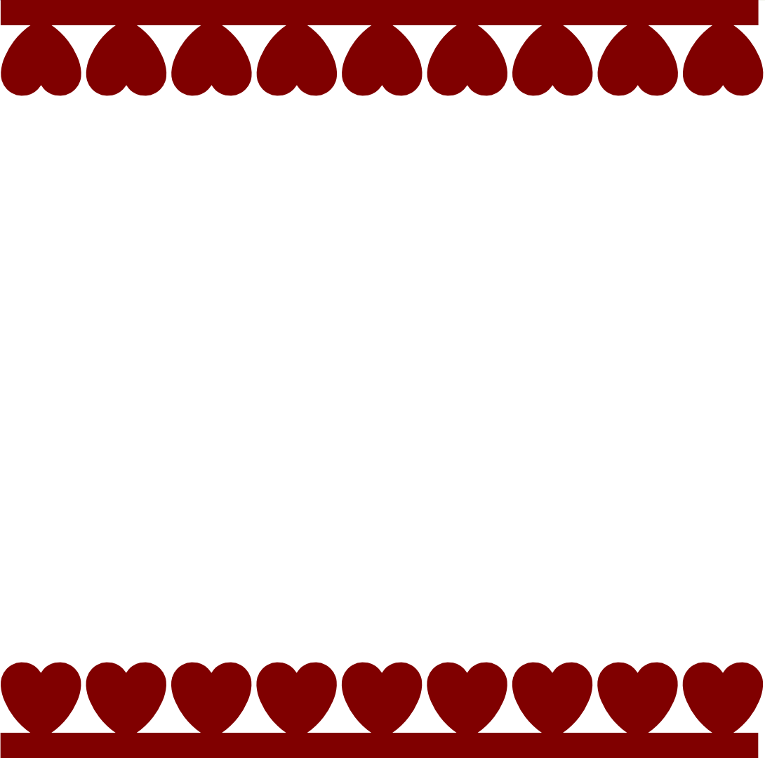 Hearts Border | New Calendar Template Site