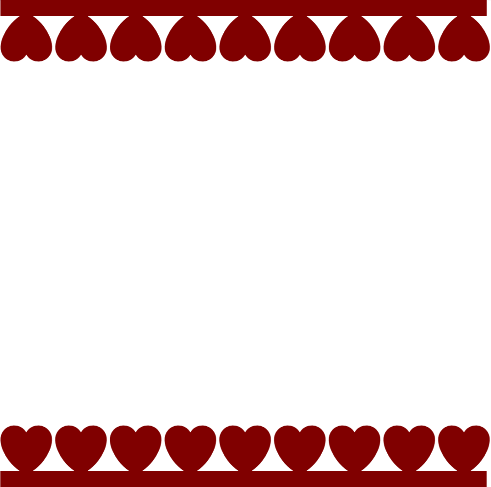 hearts border svg