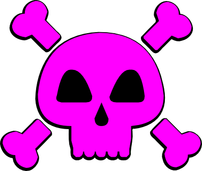 Skull and Cross Bones (and a pink one) svg (2/2)
