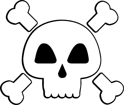 Skull and Cross Bones (and a pink one) svg (1/2)